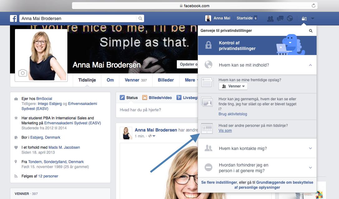 privat profil facebook